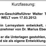 """Carriere and more: die Lüge im """"WELT""""-Artikel durch Walter Trummer"""