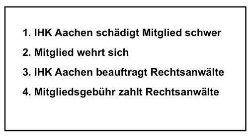 """IHK-Aachen: """"Wir mussten so handeln!"""" (Existenzvernichtung eines Mitgliedes, Teil 1/3)"""