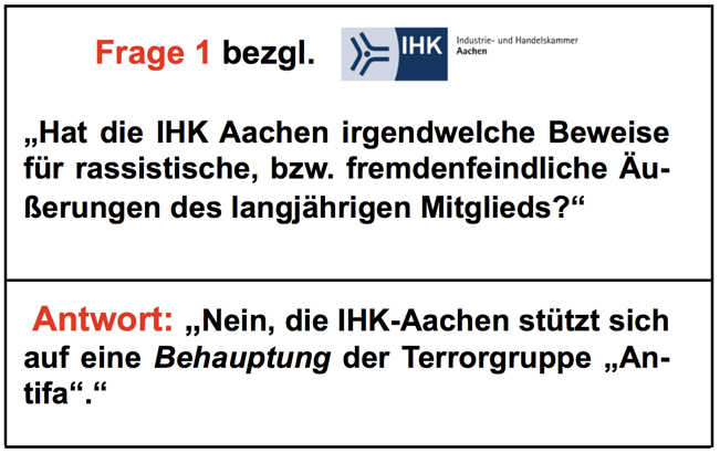 """IHK Aachen: Fragen u. Antworten bzgl. """"Denunzierungsgate"""" für Journalisten"""